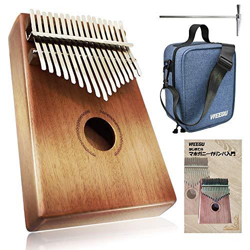 WEEGU Kalimba Musical Instrument, Japanese Instruction Manual & Dedicated Shoulder Bag Included