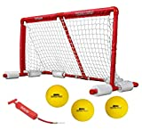 GoSports Floating Water Polo Game Set - Must Have Summer Pool Game - Includes Goal and 3 Balls, Red