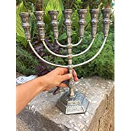Yaliland Menorah Jerusalem Temple 14 Inch Height 35 cm 7 Branches puter XL