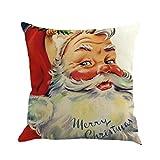 weiche Weihnachten Kissen Bezug Überwurf Kopfkissen Bezüge mingfa Santa Claus Druck Sofa Bett Home...