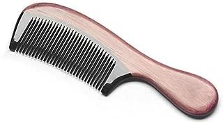 Kevinliu Violeta natural de madera Peine - hecho a mano de cuerno de búfalo Peine anti-estática peine del pelo for los hombres mujeres y niños, Ninguno-Cabello desmelenado y antiestático por la Natura