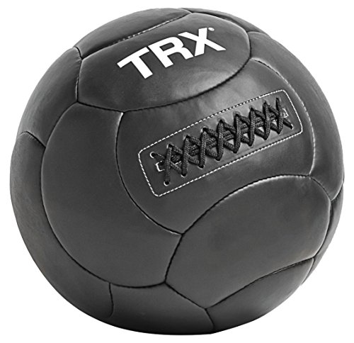 TRX Training Medicine Ball, Handcrafted with Reinforced Seams, 4lbs