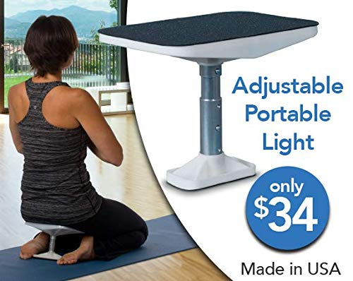 Meditation bench, Seiza Bench,It's Adjustable, Portable,Lightweight and Durable - White