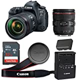 Canon EOS 6D Mark II 26.2 MP CMOS Digital SLR Camera with 3.0-Inch LCD with EF 24-70mm f/4L IS USM Lens - Wi-Fi Enabled (Renewed)
