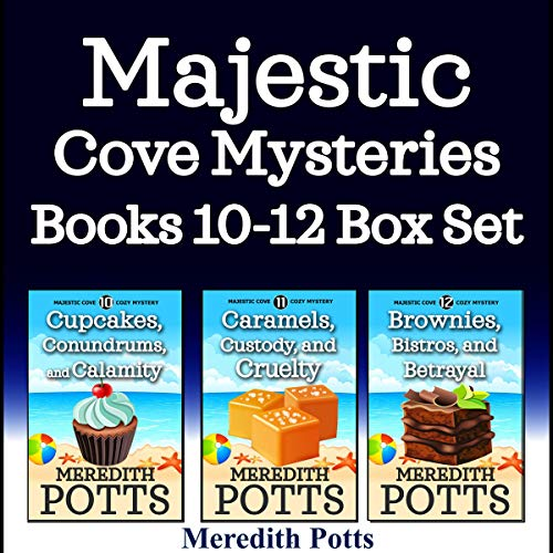 Majestic Cove Mysteries Books 10-12 Box Set  By  cover art