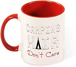 Beautiful Color Mug Inside And Handle Unisex Camping Hair Don't4 tea cup coffee cup red-style1