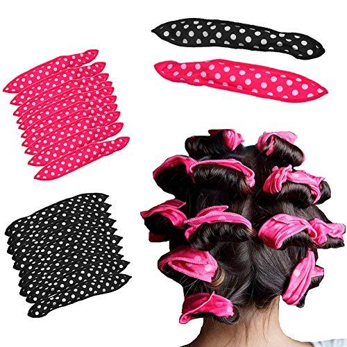 Whiie891203 Polka Dot Hair Curler, Sponge Curler, 10Pcs Dot Flexible Sponge Hair Roller Night Sleep Curler DIY Outil De Coiffure (21,5 Cm X 3,5 Cm / 8