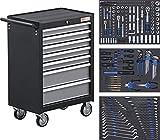 BGS 4062 | Werkstattwagen | mit 263 Werkzeugen | 7 Schubladen | gefüllt | abschließbar | massives Metall