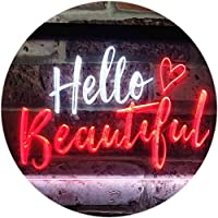 Hello Beautiful Battling Cancers Support Dual Color LED看板 ネオンプレート サイン 標識 白色 + 赤色 600 x 400mm st6s64-i1177-wr