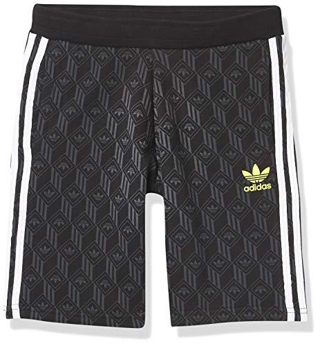 adidas Originals unisex-youth Shorts Black/Grey/White/Yellow Large