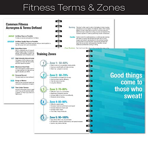Product Image 7: Workout Fitness Journal Nutrition Planners: Clip-in Bookmark, Sturdy Binding, Thick Pages & Laminated Protective Cover (Brown)