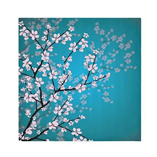 TropicalLife HaJie Servilletas japonesas de flor de cerezo flor floral servilleta de papel de poliéster satinado servilletas reutilizables para mesa de niños 50,8 x 50,8 cm, 4 piezas