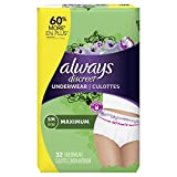 Always Discreet Incontinence & Postpartum Underwear for Women,...