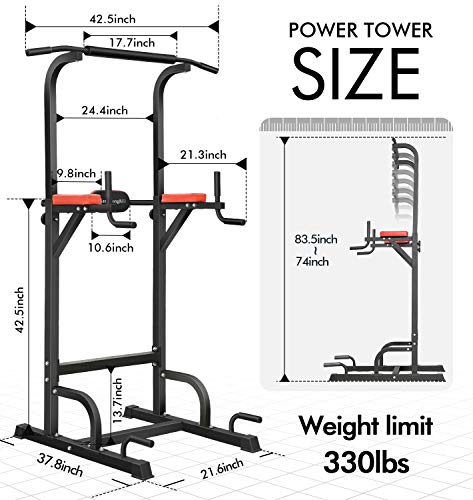 Product Image 5: BangTong&Li Power Tower Workout Pull Up & Dip Station Adjustable Multi-Function Home Gym Fitness Equipment