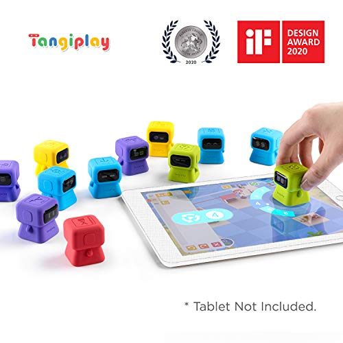 Tangiplay STEM Coding Learning Robot Toy Kits Interactive Educational Games Programming Toys for Preschooler and School-Aged Kids Aged 4-12+, iPad Required