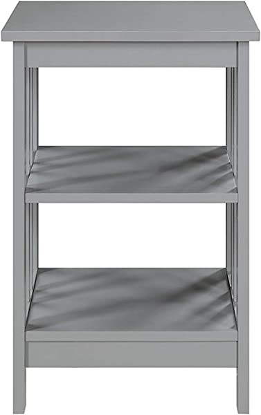 Convenience Concepts 203385GY End Table Gray