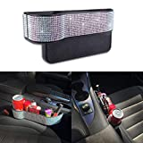 JUSTTOP Bling Car Seat Organizer, Seat Console Storage Organizer, Side Slit Car Seat Gap Filler, 1PC for Driver Side(Multicolor Diamonds)