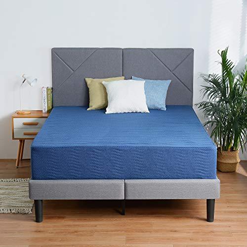 Olee Sleep 12 Inch New Safe Comfort Memory Foam Mattress, Blue, Full