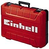 Einhell Maletín universal E-Box M55 para el almacenamiento de herramientas y accesorios, revestimiento interior de espuma suave para evitar arañazos durante el transporte, carga máxima de 20kg