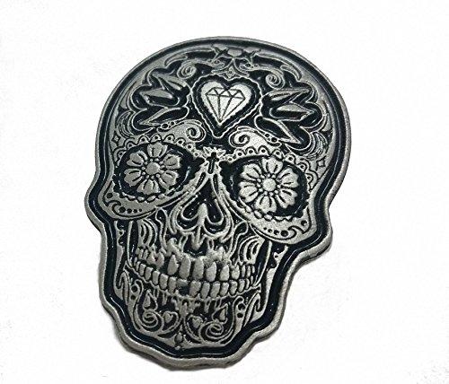 Daywalker Bikestuff Tag der Toten Mexico Día de los Muertos Sugar Skull Anstecker Pin Badge