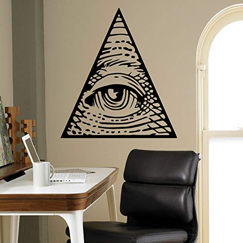 All Seeing Eye Pyramid Wall Vinyl Decal Illuminati Sigh Sticker Decor Living Room Wall Murals Housewares Wall Stickers from Home 44X42CM