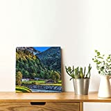 Poster, rahmenlos, dekoratives Gemälde, Garmisch