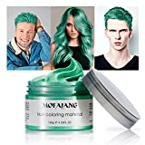 Temporary Green Hair Color Wax 4.23oz, Instant Hairstyle Mud Cream, Hair Pomades for Party, Cosplay, Nightclub, Masquerade, Halloween.(Green)