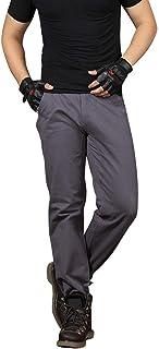 ZhixiaYS Men Pants Casual, Men's Loose Pure Cotton Straight Pants Barrel Overall Pant