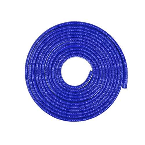 Tuokay, 10m Autodeur Beschermers Zonder Stick, Met Rubber Beklede U-vormige Veerstalen Randbeschermstrip, Portierrandstrip (Blauw)