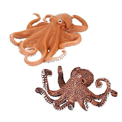 2 unidades de decoración de acuario de Kraken holandés, la leyenda misteriosa pulpo figura de acuario adorno de pecera, paisaje artificial de vida marina réplica accesorios de decoración