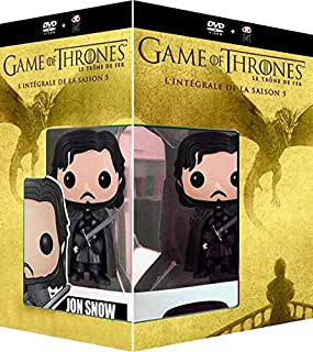 Game of Thrones (Season 5) - 5-DVD Box Set & Jon Snow Vinyl Figure ( Game of Thrones - Season Five (10 Episodes) ) [ NON-USA FORMAT, PAL, Reg.2 Import - Netherlands ]