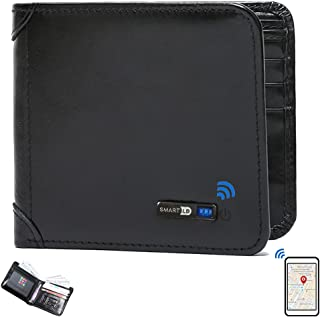 $29 » Smart LB Smart Anti-Lost Wallet Bluetooth Tracker, Position Record (Via Phone GPS), Bifold Cowhide Leather Men Wallets Sma...