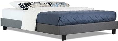 Istyle Divan King Single Bed Frame Base Ensemble Fabric Grey