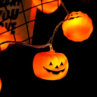 ZZX Halloween String Lights, LED Pumpkin Lights, Holiday Lights for Outdoor Decor,2 Modes Steady/Flickering Lights(20 One ...