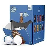 My-CoffeeCup – MEGA-BOX LUNGO CAFFÈ CREMA – BIO-KAFFEE I 100 Kaffeekapseln für...