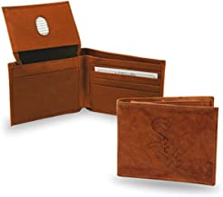 Rico Chicago MLB Baseball White Sox Embossed Brown Leather Billfold Wallet