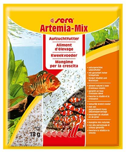 sera Artemia-Mix 18g ein Ansatz, Salz-Eier-Mischung für 500ml für lebendes Jungfischfutter bzw. Artemia Nauplien