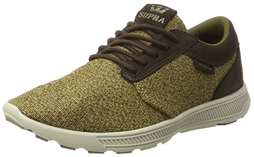Supra Herren Hammer Run Sneaker, Braun (Demitasse-Bone), 42 EU