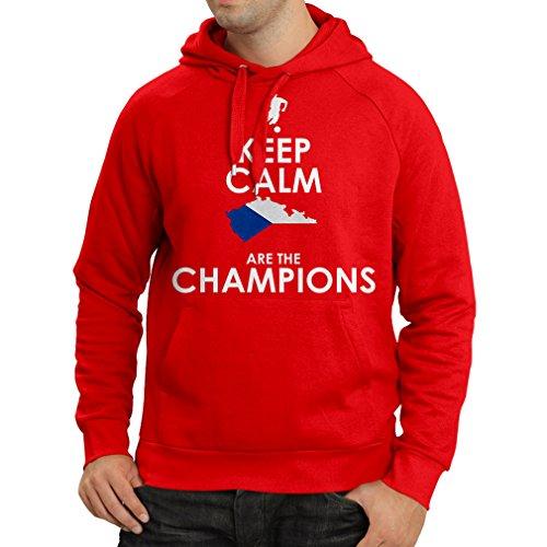 lepni.me N4496H Sudadera con Capucha Czechs Are The Champions (Medium Rojo Multicolor)