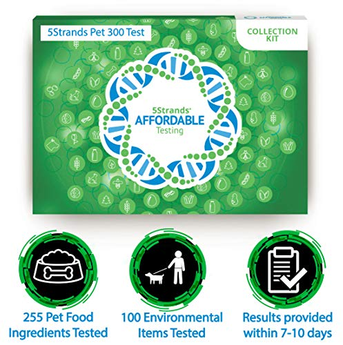 5Strands | Affordable Pet 300 Test | 255 Food Ingredients & 100 Environmental Items Tested Cat & Dog | Allergy Sensitivity & Intolerance at Home Collection Test Kit | Hair Analysis