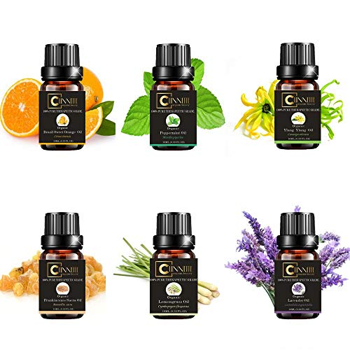 essential oils gift sets pure aromatherapy kit starter pack therapeutic oil diffuser grade aroma lemongrass lemon relaxation aromas natural skin humidifiers