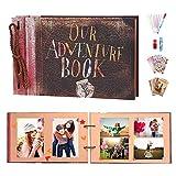 ZHENGJIANG Our Adventure Book Álbum de Fotos Libro de Recuerdos Bricolaje Álbum de Recortes Hecho A Mano Libro de Recuerdos para Dia de San Valentin Boda Cumpleaños Aniversario Navidad