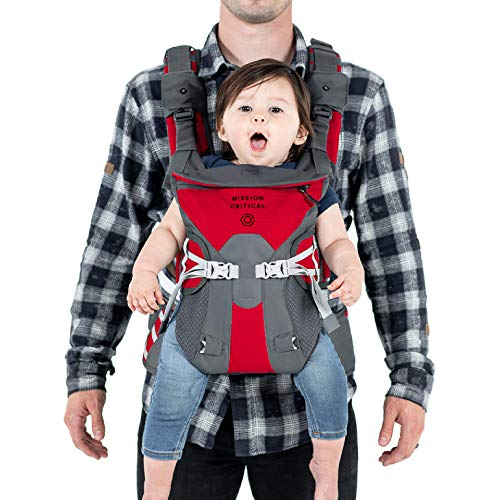 Mission Critical S.02 Adventure Baby Carrier, Baby Gear for Dads (Adventure Red)