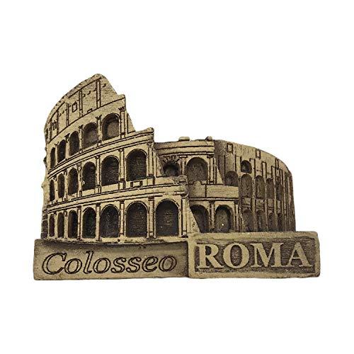 Roma Italia 3D Roma Colosseum Refrigerador Imán Recuerdos Turísticos Resina Pegatinas Magnéticas Imán de Nevera Hogar y Cocina Decoración de China