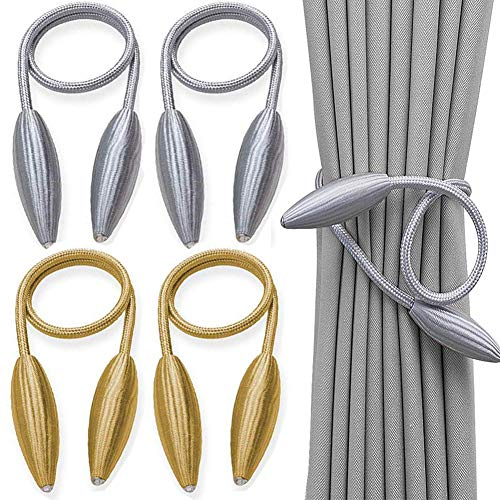 BESLIME Vorhang Raffhalter Vorhang Clips Seil Holdbacks DIY Kreativ Modellierung Vorhang Holdbacks für Home Office Fensterdekoration 4pcs