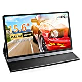 Portable Monitor - ANYFUN Plug and Play Brighter 15.6 Inch 1080P Full HD Computer Gaming Monitor with HDMI USB C Speakers Second Screen for Laptop/Phone/PS4/PS5/XBOX/Nintendo/Office/Travel/Home