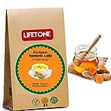lifetone the tea for better life, Golden Milk Powder | Mezcla de cúrcuma con 6 especias super alimentos 20 sobres