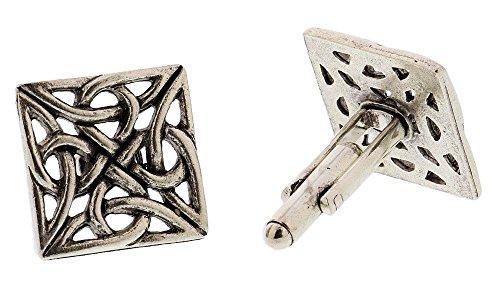 Silver Celtic Knot Cufflinks By Classic Cufflinks