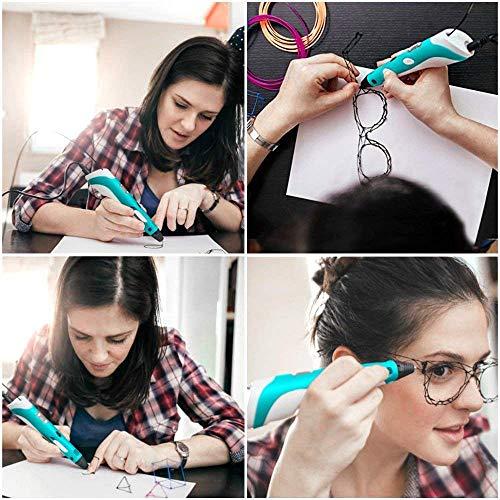StillCool 3D-Zeichnung Druck 3D Stift gifts LCD-Display for kids & adults Zeichnung und Kunst & handgefertigte Werke Doodle Puzzle Spielzeug - 5
