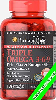 Maximum Strength Triple Omega 3-6-9 Fish,flax & Borage Oils from PURITAN'S PRIDE